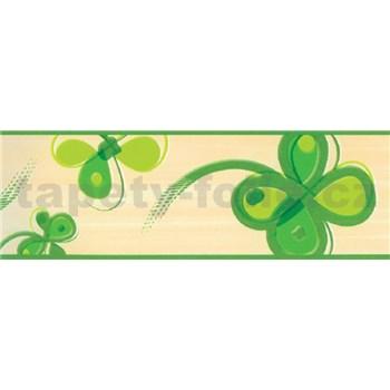 Samolepící bordury čtyřlístek zelený 5 m x 6,9 cm