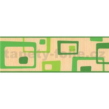 Samolepící bordura abstrakt zelený 5 m x 6,9 cm