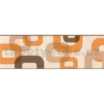 Samolepící bordura 3D oranžovo-hnědá 5 m x 6,9 cm