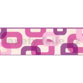 Samolepící bordura 3D růžovo-fialová 5 m x 6,9 c m