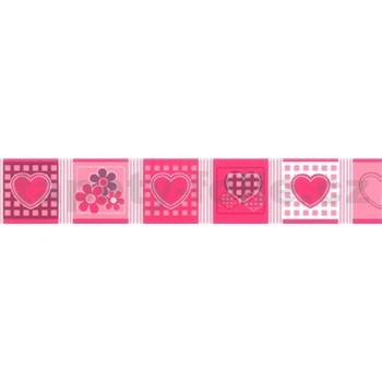 Samolepící bordura - růžová 5 m x 6,9 cm