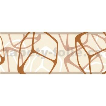 Samolepící bordury čtverce hnědo-béžové 5 m x 6,9 cm