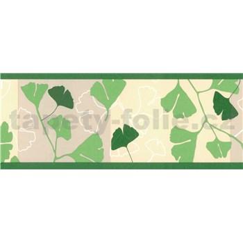 Samolepící bordury ginkgo listy zelené 5 m x 6,9 cm