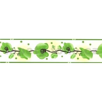 Samolepící bordura - orchidej zelená 5 m x 6,9 cm