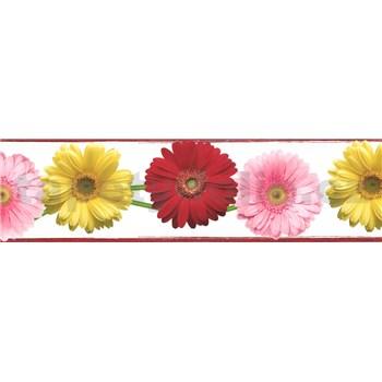 Samolepící bordura gerbery 5 m x 8,3 cm