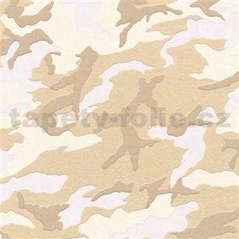 Vliesové tapety na zeď Boys & Girls maskáč hnědý