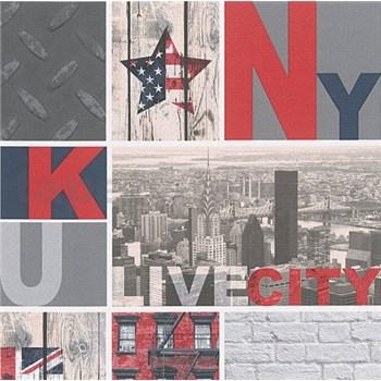 Papírové tapety na zeď Boys & Girls život ve městě
