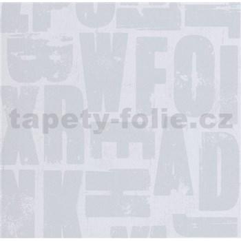 Vliesové tapety na zeď Bread & Butter písmena šedé - POSLEDNÍ KUSY