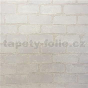 Vliesové tapety na zeď Bread & Butter cihla bílá