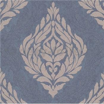 Vliesové tapety IMPOL Carat 2 zámecký vzor zlatý na modrém podkladu