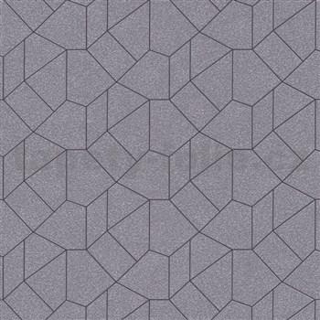 Vliesové tapety IMPOL Carat 2 geometrický vzor zlatý s černými konturami