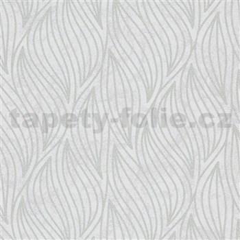 Vliesové tapety IMPOL Carat 2 listy stříbrné na bílém podkladu
