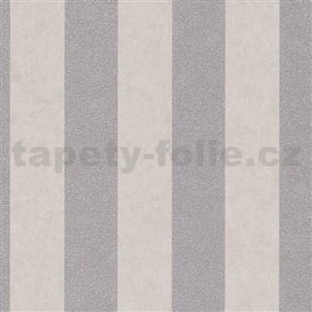 Vliesové tapety IMPOL Carat 2 pruhy zlato-hnědé