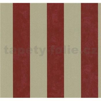 Vliesové tapety na zeď Carat pruhy červeno-zlaté - POSLEDNÍ KUSY
