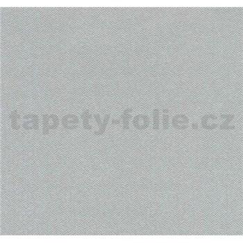 Vliesové tapety na zeď Casual Chic vzor rybí kost šedá