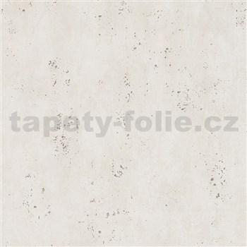 Vliesové tapety IMPOL City Glam beton béžový se zlatými metalickými odlesky