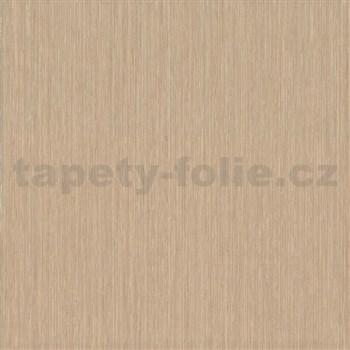 Vliesové tapety na zeď Classico strukturované jemné proužky hnědé