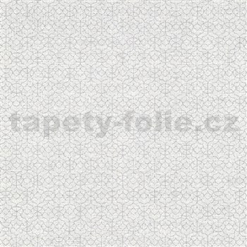 Vliesové tapety na zeď IMPOL Code Nature malé ornamenty stříbrné na bílo-šedém podkladu