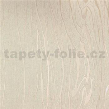 Vliesové tapety na zeď Colani Visions dřevo moderní béžové s perleťovými konturami