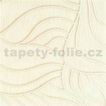 Vliesové tapety na zeď Colani Visions abstraktní listy béžové