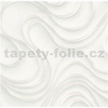 Luxusní vliesové tapety na zeď Colani Evolution vlnovky šedé