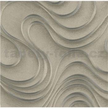 Luxusní vliesové tapety na zeď Colani Evolution vlnovky hnědé