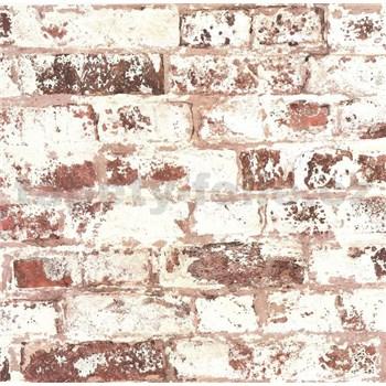 Vliesové tapety na zeď Collage cihla hnědo-červená