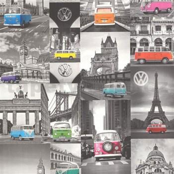 Vliesové tapety na zeď Collage auta Volkswagen - POSLEDNÍ KUSY