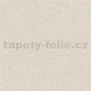 Vliesové tapety na zeď IMPOL Collection textilní struktura světle hnědá