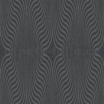 Vliesové tapety na zeď IMPOL ornament se třpytkami tmavě šedý