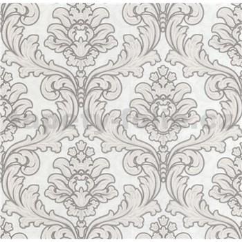 Luxusní vliesové tapety na zeď Brilliance zámecký vzor hnědý