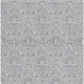 Papírové tapety na zeď IMPOL Collection zámecký vzor stříbrně šedá