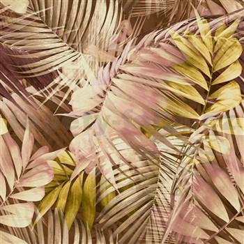 Vliesové tapety na zeď IMPOL Collection Tropical Jungle růžovo-žlutá
