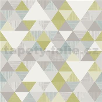 Vliesové tapety na zeď Inspiration Wall geometrický vzor moderní zeleno-modrý