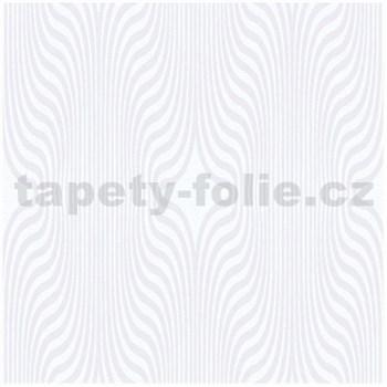 Vliesové tapety na zeď IMPOL ornament se třpytkami bílý