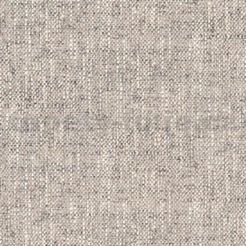 Vliesové tapety na zeď vzor textilní vzor béžovo-černý