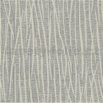 Vliesové tapety na zeď pruhy stříbrno šedé s leskem
