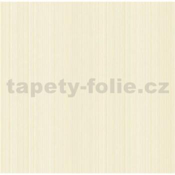 Vliesové tapety na zeď jemné proužky hnědé