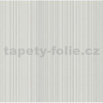 Vliesové tapety na zeď jemné proužky šedé