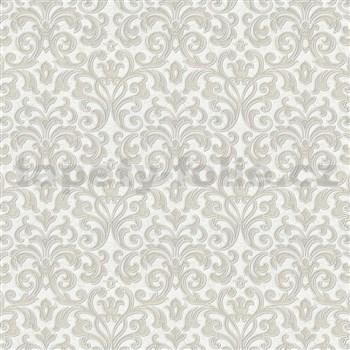Vliesové tapety na zeď zámecký vzor krémový na bílém podkladu 10m2 MEGA ROLL