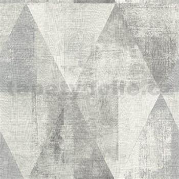 Vliesové tapety na zeď IMPOL Collection geometrické vzory s patinou šedé
