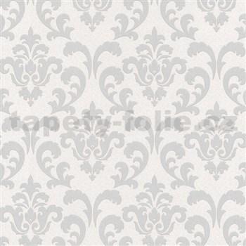 Vliesové tapety na zeď zámecký vzor stříbrný