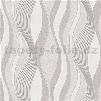Vliesové tapety na zeď IMPOL vlnovky šedé