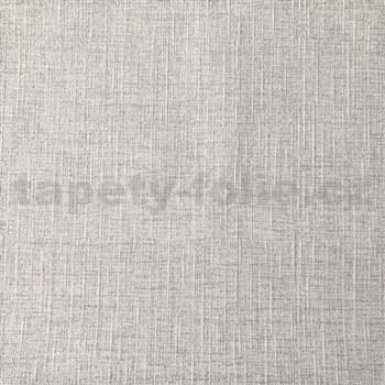 Vliesové tapety na zeď textilní vzor šedý s třpytkami