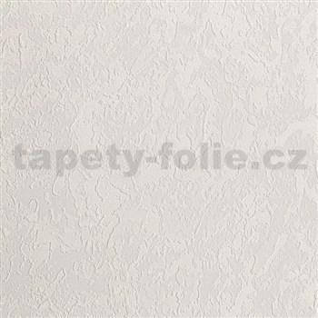 Vliesové tapety na zeď IMPOL Collection struktura bílá se zlatavým metalickým odleskem