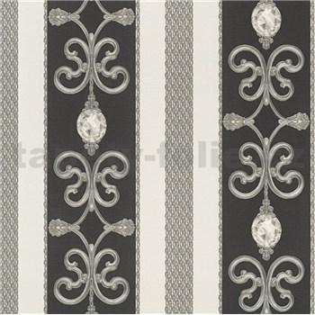 Papírové tapety na zeď Collection 2 barokní vzor černo-zlatý