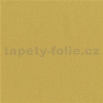 Vliesové tapety na zeď jemná struktura žlutá