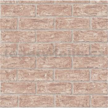Vliesové tapety na zeď cihly červené