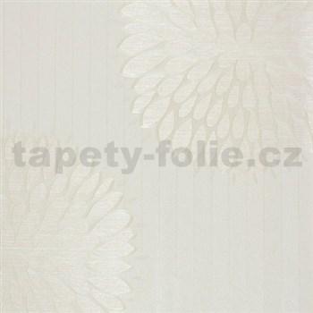 Luxusní vliesové tapety na zeď Da Milano - květy krémové rozměr 10,05 m x 1,06 m PROFI ROLE