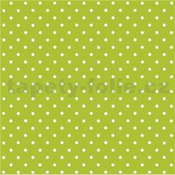 Samolepící tapeta puntíky zelené  - 45 cm x 2 m (cena za kus)